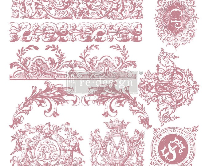 """CHATEAU DE SAVERNE Clearly Aligned Decor Stamp, Prima Redesign Stamp, Free Shipping, 12""""x12"""""""