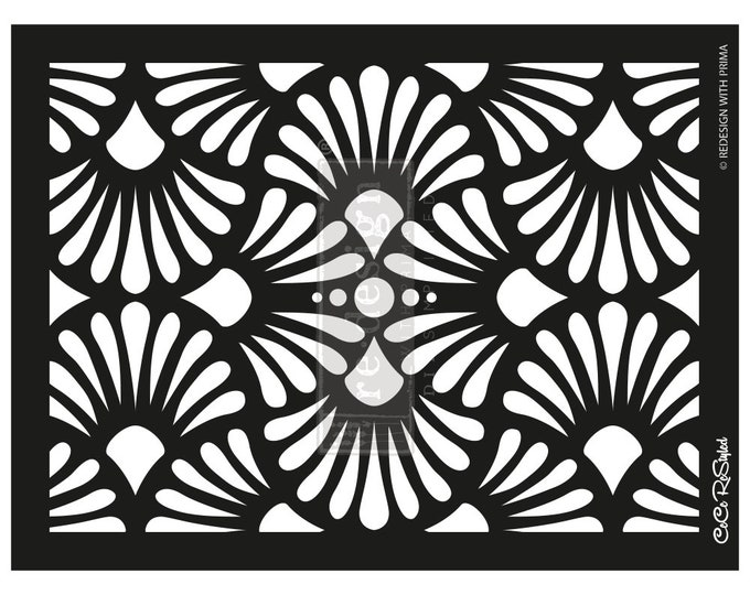 Wall stencil stencils Mylar Stencils Furniture Stencils FREE SHPPING NEW Coastal Tile Prima Redesign Stencils