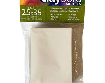 """2.5"""" x 3.5"""" Claybord Art Tiles with Free Shipping. For mixed media, coasters, tile, jewelry and any other art you can dream up!"""