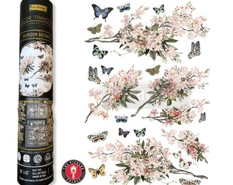 EXCLUSIVE BLOSSOM BOTANICA Rub on furniture Transfer with Free Usa shipping