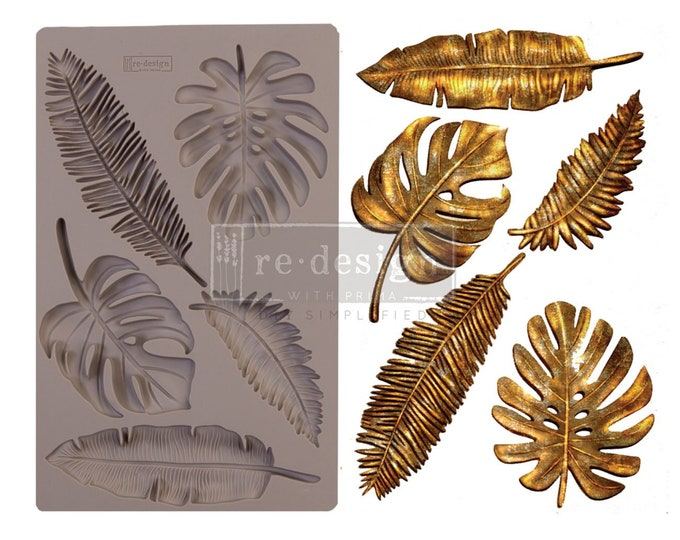 Monstera FREE SHIPPING Redesign with Prima Decor Moulds , Silicone Mold,  Resin Mold, 5 x 8 Silicone Mold