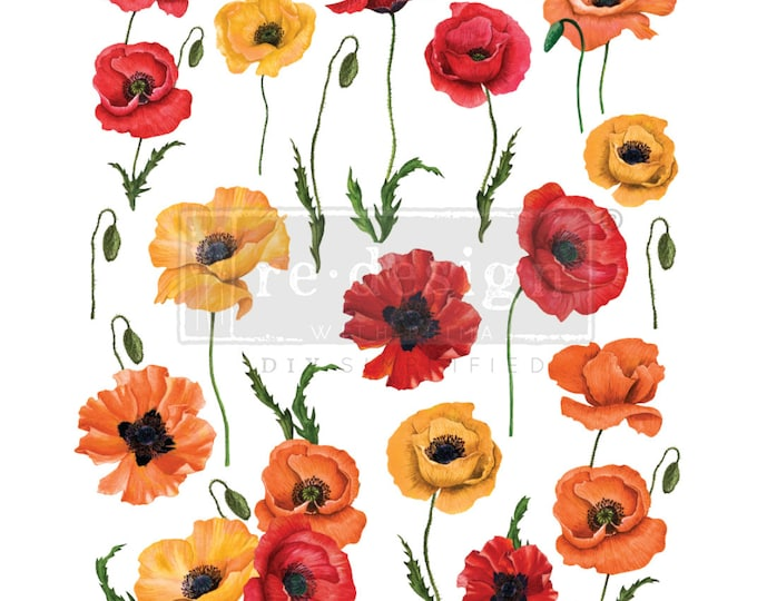 Poppy Gardens Prima Redesign Decor Transfer with free shipping