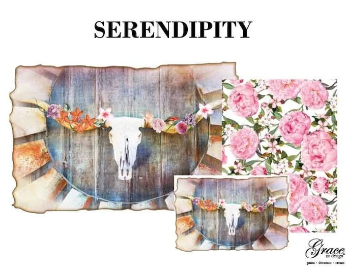 Serendipity Decoupage Pack, 3 sheets , Free Shipping