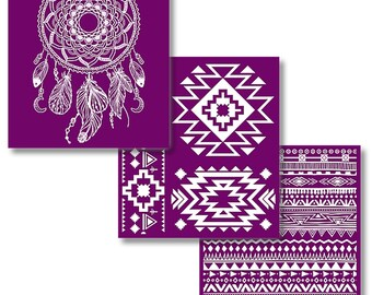 Western Boho Collection, New Dixie Belle Silk Screened Stencils, 3 sheets of designs applicator, stencils, reusable stencils,  free shipping