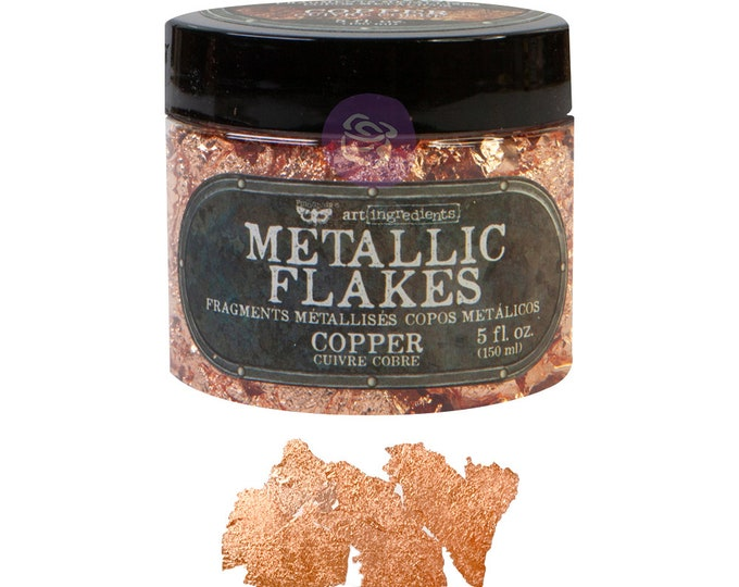 Copper Metallic Art flakes, mixed media, scrapbooking, journal FREE SHIPPING