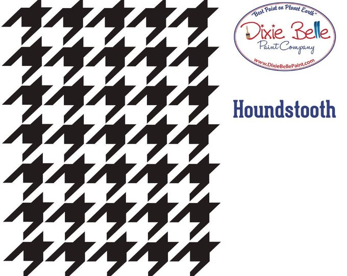 NEW! Dixie Belle Stencils, Houndstooth Furniture Stencils, Mylar Stencils,  Wall stencil, stencils, FREE SHPPING