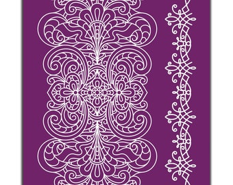 LACE Collection: All 3 designs in a reusable stencils, New Dixie Belle Silk Screened Stencils,  free shipping