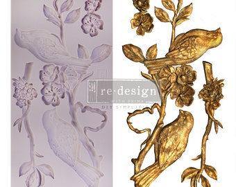 Blossoming Spring VIP Redesign Exclusive Resin and Clay Mold, Bird Mold, Free USA Shipping , Silicone Mold