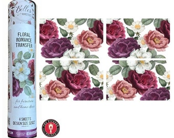 FLORAL ROMANCE Rub On transfer from Dixie Belle Paint with Free shipping for furniture painting and crafting