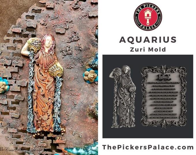 Aquarius Mold, Zuri Mold, Zuri zodiac mold, Aquarius , decor mold , cake , chocolate mold, mixed media mold , Resin mold, Free shipping