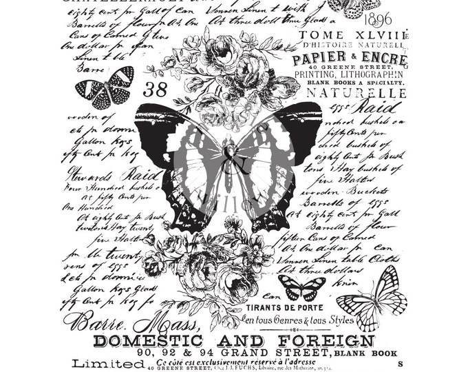MAISIE & WILLOW, Butterfly Botanic, Butterfly transfer, rub on transfer, Prima Transfers, Redesign Transfer, Free shipping