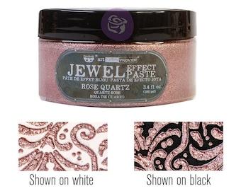 Rose Quartz,  Art Extravagence Jewel Texture pastes, sparkly paste, stencil paste, mixed media, journaling , FREE SHIPPING