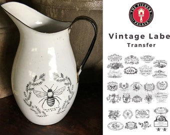 Classic Vintage transfer, Prima Transfers, Redesign Transfer, Free shipping
