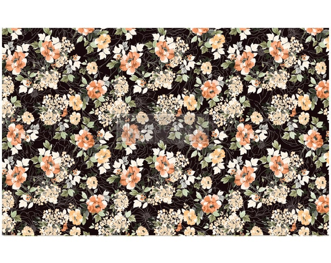 """NEW MIDNIGHT AMBER Prima Decoupage Mulberry Tissue Paper,  Free Shipping  19"""" x 30"""" Re-Design with Prima"""