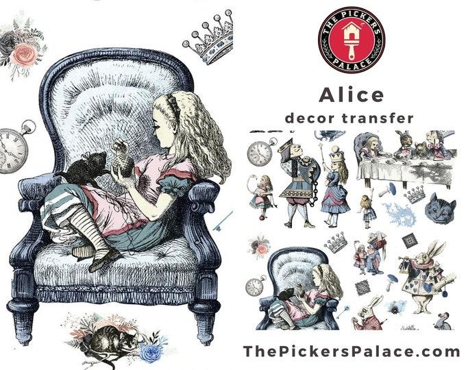 ALICE IN WONDERLAND Dixie Belle transfer, Alice Transfer, DIxie Belle Transfer, Free shipping, 4 sheets