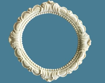 F28 Round Leaf Frame , EFEX , Replacement Moulding, Historic Moulding, Silicone Moulding, Embellishment  , Made USA, Free Shipping