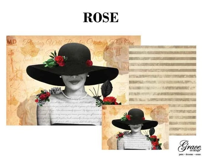 ROSE Decoupage Pack, 3 sheets , Free Shipping