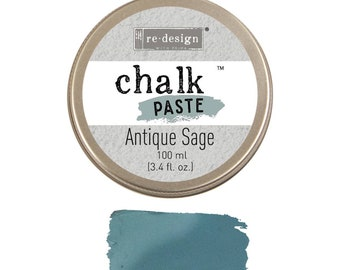 ANTIQUE SAGE  Chalk Paste for stencils, furniture, painting with free shipping