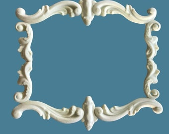 F15  French Scroll Frame , EFEX , Replacement Moulding, Historic Moulding, Silicone Moulding, Embellishment  , Made in USA, Free Shipping