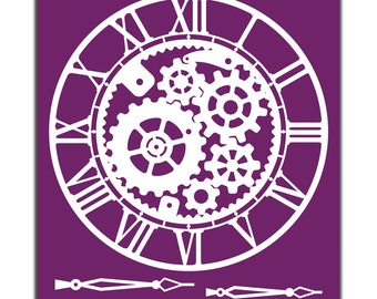 Steampunk Collection: All 3 designs in a reusable stencils, New Dixie Belle Silk Screened Stencils,  free shipping