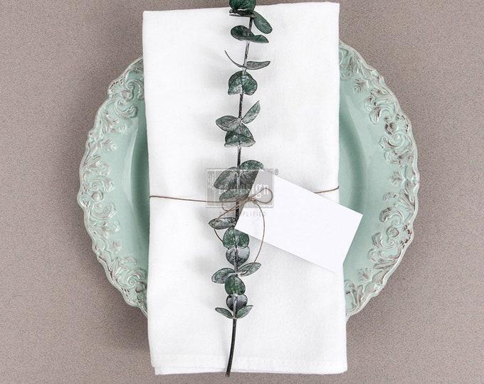 """Redesign Cotton Napkins for stamping, stenciling and decorating, set of 4 20""""x20"""""""