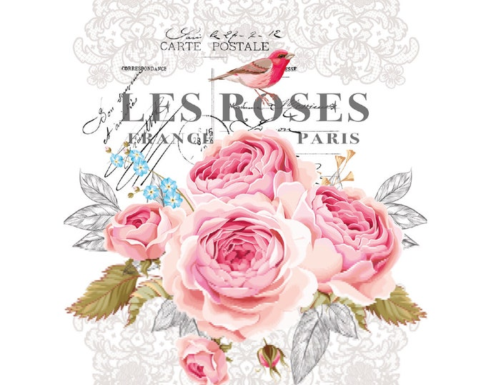 15 DOLLAR BLOWOUT Les Roses Hokus Pocus transfer,  Furniture Transfers, Rub on Transfer,  Free shipping