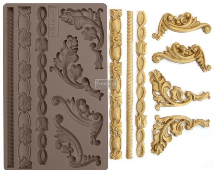 Italian Accents FREE SHIPPING Redesign with Prima Decor Moulds , Silicone Mold,  Resin Mold, 5 x 8 Silicone Mold