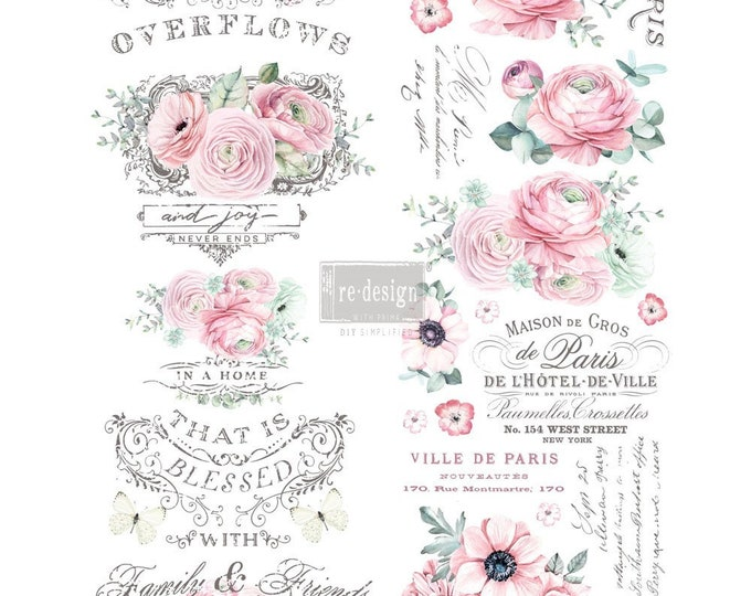 Overflowing Love transfer, Prima Transfers, Redesign Transfer, Free shipping