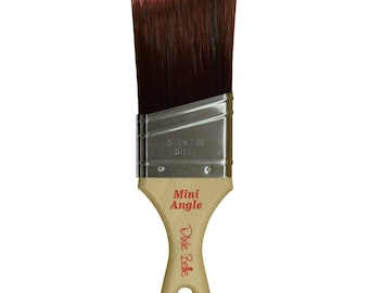 MINI ANGLE BRUSH,  New Dixie Belle Brush , Wax brush , Paint Brush, Round Brush, Premium Brush, Paint Gift, Craft supply Free Shipping