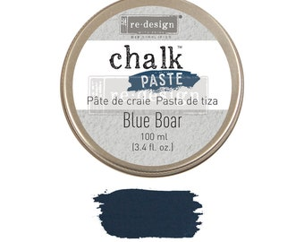 Chalk Paste  BLUE BOAR  from Prima Redesign, blue chalk paste,  stencils, furniture, painting,  free shipping