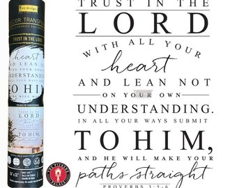 TRUST in the LORD Rub On Transfers from Prima Redesign for furniture painting and windows with Free shipping