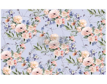 """LAVENDER FLEUR  Decoupage Mulberry Tissue Paper from Prima Redesign with  Free Shipping  19"""" x 30"""" Re-Design with Prima"""