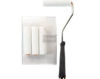 Paint Roller brush set for furniture painting and home decor, smaller roller, stamp roller,