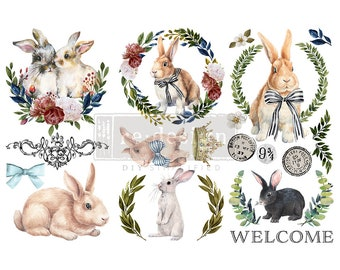 """Affordable transfers!  Cottontail Transfer Collection 12"""" X 6"""" with FREE Shipping"""