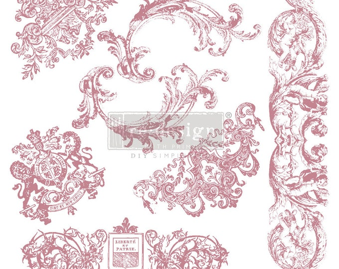 """CHATEAU DE MAISONS Clearly Aligned Decor Stamp, Prima Redesign Stamp, Free Shipping, 12""""x12"""""""