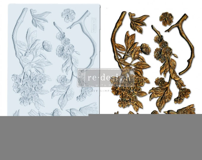Aviary  FREE SHIPPING Redesign with Prima Decor Moulds , Silicone Mold,  Resin Mold, 5 x 8 Silicone Mold
