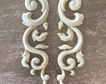 SC49  Larges Pair of Scrolls , EFEX , Replacement Moulding, Historic Moulding, Silicone Moulding,  , Made USA, Free Shipping