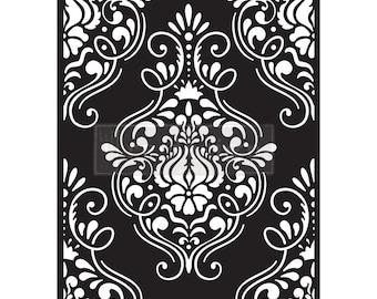 NEW Flourish Emblem,  Prima Redesign Stencils,  Furniture Stencils, Mylar Stencils,  Wall stencil, stencils, FREE SHPPING