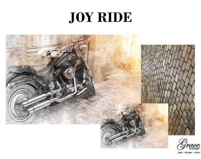 PRE ORDER JOYRIDE Grace on Design  Decoupage Pack, 3 sheets , Free Shipping