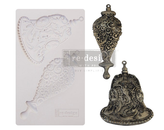 New Mould SILVER BELLS Free Shipping Redesign with Prima Decor Moulds , Silicone Mold,  Resin Mold, 5 x 8 Silicone Mold