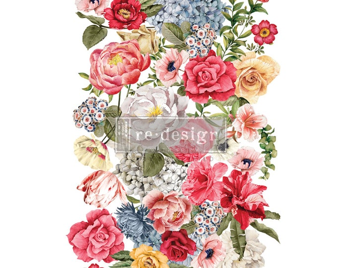 NEW Wondrous Floral 2 transfer, Prima Transfers, Redesign Transfer, Free shipping