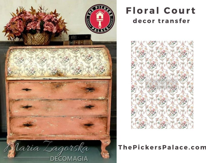 Floral Court , New Prima Transfer,  Redesign Decor Transfer Free Shipping