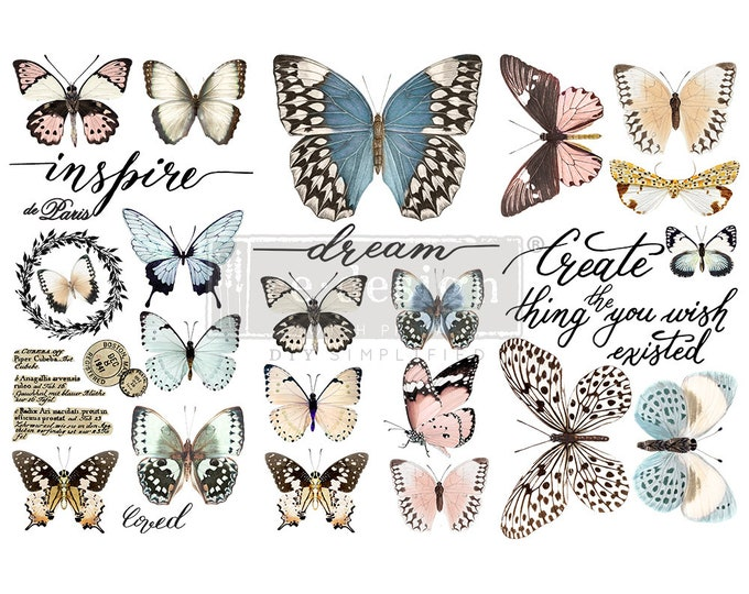 """Affordable transfers! Papillon Transfer Collection 12"""" X 6"""" with FREE Shipping"""