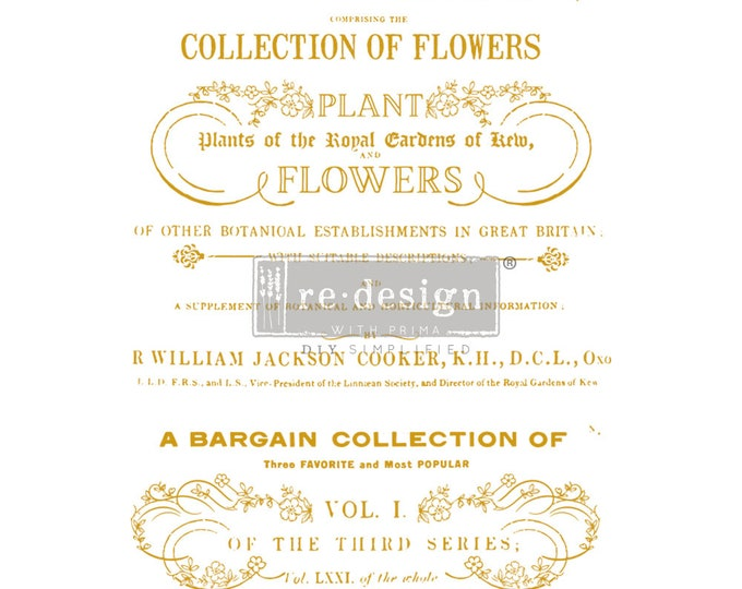 New Flower Collector transfer, Prima Transfers, Redesign Transfer, Free shipping