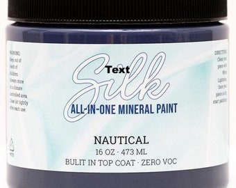 Nautical SILK All in One Mineral Paint, Silk Paint, Dixie Belle Paint
