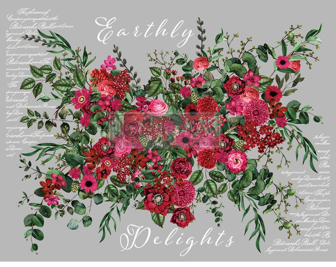 NEW Earthly Delights, New Prima Transfer,  Redesign Decor Transfer Free Shipping
