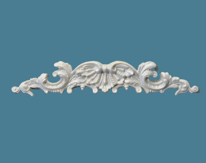 P16 French Style Pediment, EFEX, Replacement Moulding, Historic Moulding, Silicone Moulding, Embellishment , Made In USA, Free Shipping