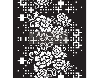 CECE FLORAL MATRIX Stencil from ReDesign for furniture, walls and whatever you dream up!