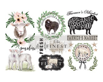 """Affordable transfers! Little Lamb Transfer Collection 12"""" X 6"""" with FREE Shipping"""