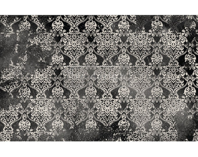 "New Decoupage Mulberry Decor Tissue Paper DARK DAMASK  Free Shipping  19"" x 30"" Re-Design with Prima"
